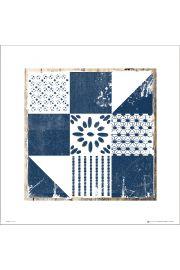 Tile Blue and White Mixed Tile 2 - art print