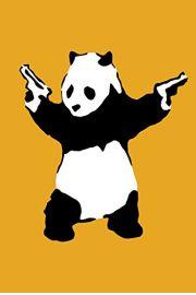 Banksy Uzbrojona Panda - plakat