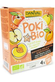 Poki - Przecier Jabłkowo-Brzoskwiniowo-Morelowy 100% Owoców Bez Dodatku Cukrów Bio 4X90 G - Danival