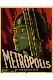 Metropolis - Fritz Lang - retro plakat