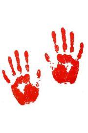 Krwawe ślady ręce