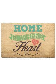 Wycieraczka z włókna kokosowego - Dom jest tam gdzie serce