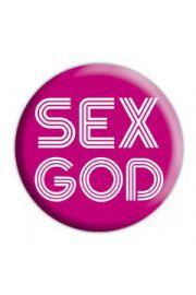 SEX GOD - przypinka