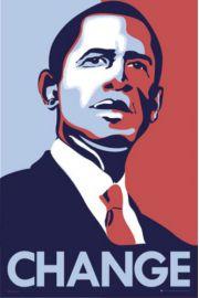 Barack Obama - Zmiany - plakat