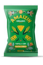 Chipsy Nachos Kukurydziane O Smaku Serowym Bezglutenowe Bio 150 G - Amaizin