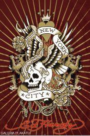 Ed Hardy Tatua� Nowy Jork i Czaszka - plakat