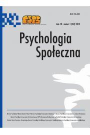 Psychologia Społeczna nr 1(32)/2015