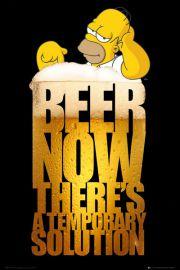 The Simpsons - Piwo - zabawny plakat
