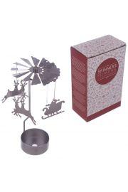 Metalowa dekoracja obracająca się pod wpływem ciepła - Mikołaj i