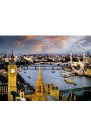 Londyn Big Ben i Tamiza - plakat