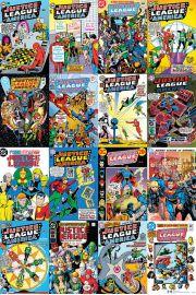 DC Comics Liga Sprawiedliwych Ok�adki Komiks�w - plakat