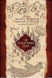 Harry Potter Marauders map - plakat