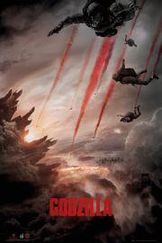 Godzilla Skydive - plakat