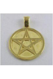 Pentagram pełny, pozłacany (M)