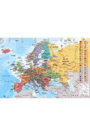 Mapa Europy - plakat