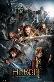 The Hobbit Collage - plakat