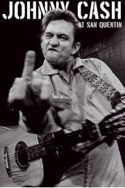 Johnny Cash koncert w Wi�zieniu San Quentin portrait - plakat