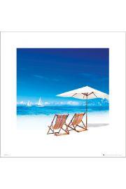 Beach Deck Chairs - art print