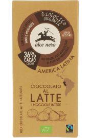 Czekolada Mleczna Z Orzechami Fair Trade Bio 100 G - Alce Nero