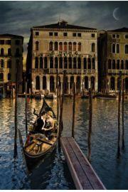 Wenecja - Romantyczna Podróż w Gondoli - Włochy - plakat