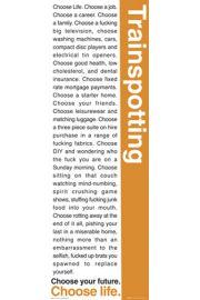 Trainspotting - Wybierz �ycie - plakat motywacyjny