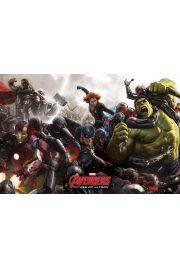 Avengers Czas Ultrona Walka - plakat