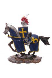 Figurka Rycerza z Niebieską Tarczą 32cm