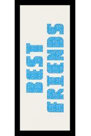 BEST FRIENDS - Rama drewniana czarna 76,5x30,5 cm