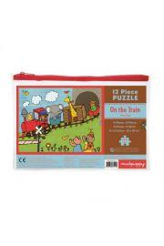 Mudpuppy, Puzzle w saszetce 12 elementów Pociąg