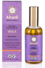 Ajurwedyjski olejek do twarzy i cia�a z fio�kiem Khadi 100 ml