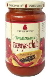 Sos Pomidorowy Papaya-Chili (Pikantny) Bezglutenowy Bio 350 G - Zwergenwiese