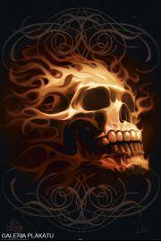 Płonąca Czaszka - Śmierć - plakat