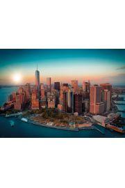 Nowy Jork Wieża Wolności Manhattan - plakat