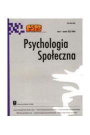 Psychologia Społeczna nr 2(4)/2007