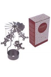 Metalowa ruchoma �wi�teczna dekoracja ze �wieczk� - Piernik