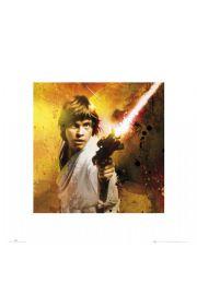 Gwiezdne Wojny Star Wars luke splatter - reprodukcja