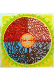 Obraz z mandalą Harmonia/Moc wewnętrznej równowagi + prezent