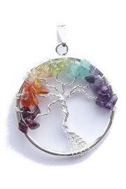 Drzewo z kamieniami na czakry, wisior