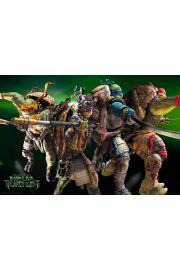 Wojownicze Żółwie Ninja Bohaterowie - plakat