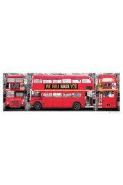 Londyn - Czerwony Autobus - Tryptyk - plakat