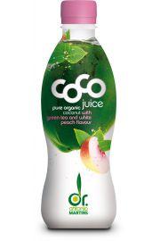 Woda Kokosowa Z Zieloną Herbatą O Smaku Brzoskwiniowym Bio 330 Ml (Pet) - Coco (Dr. Martins)