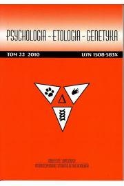 Psychologia-Etologia-Genetyka nr 22/2010