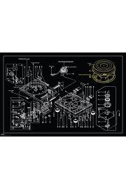 Steez Gramofon Technics 1200 - plakat