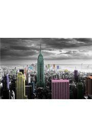 Nowy Jork Kolorowe Wieżowce - plakat