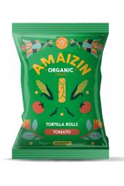 Chipsy Kukurydziane Rolls O Smaku Pomidorowym Bezglutenowe Bio 100 G - Amaizin