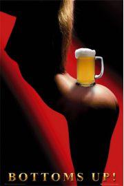 Piwo - Akt - Bottoms up - plakat