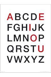 Alphabet Vowels - art print