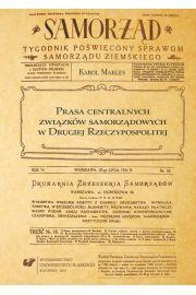 Prasa centralnych związków samorządowych w Drugiej Rzeczypospolitej