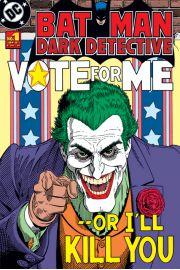 Batman Joker Vote For Me - retro plakat
