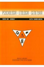 Psychologia etologia genetyka Tom 30 / 2014